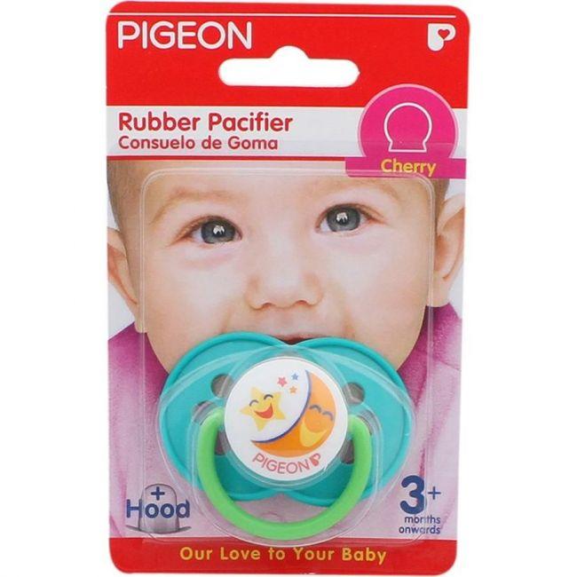 Pigeon Rubber Pacifier - Cherry Green
