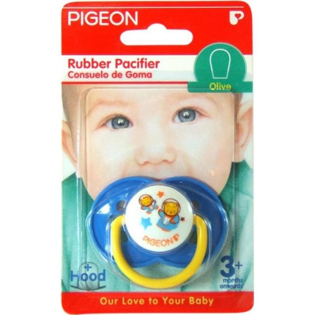 Pigeon Rubber Pacifier - Olive Blue
