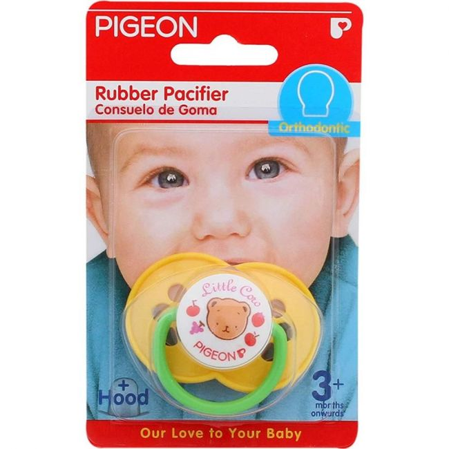 Pigeon Rubber Pacifier - Olive Yellow