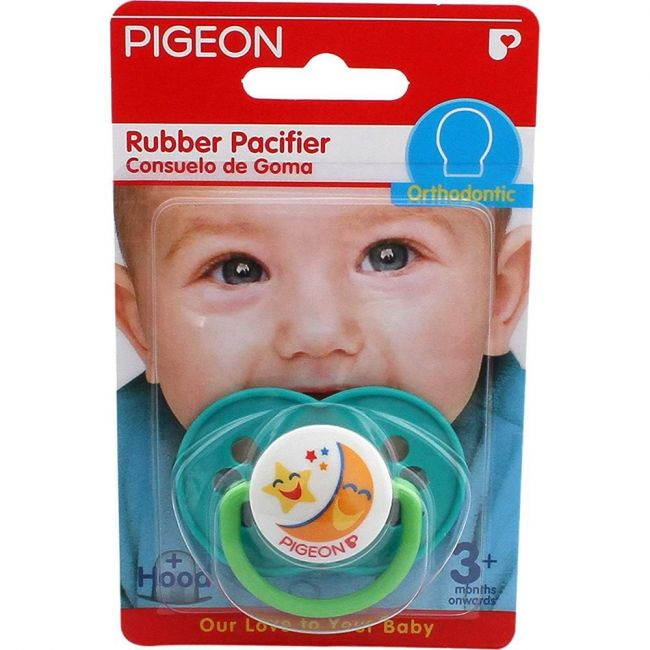 Pigeon Rubber Pacifier - Orthodontic Green