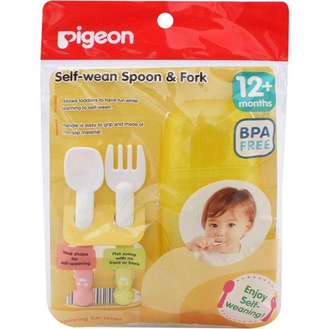 Pigeon Self-Wean Spoon & Fork