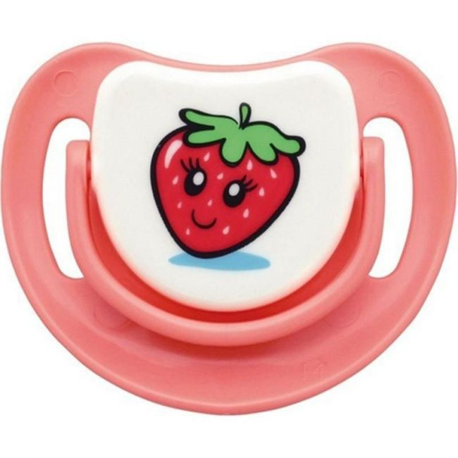 Pigeon Silicon Pacifier Step-1 Strawberry