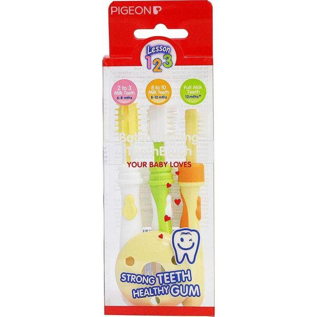 Pigeon - Trainer Toothbrush - Set of 3