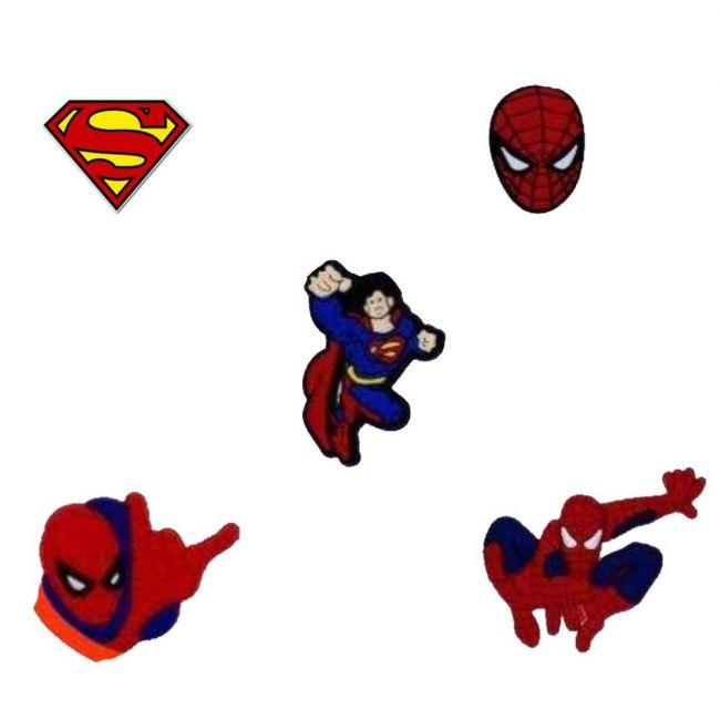 Pikkaboo - Crocs Charms - Super Heroes