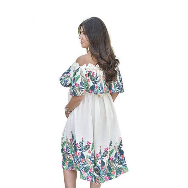 Pikkaboo - Floral Off-Shoulder Maternity Dress - Medium