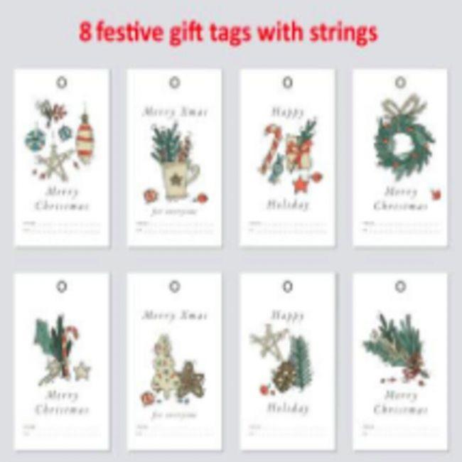 Pinak - 8 Set X Mas Gift Tags