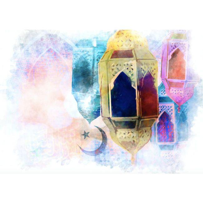Pinak - Eid Card - Lantern & Moon