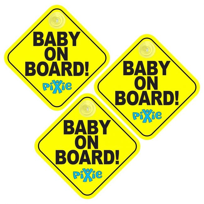 Pixie - Baby On Board Pack Of 3
