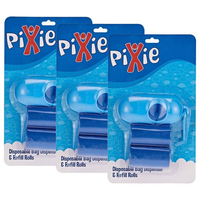 Pixie - Dispenser Bag And Refill - Blue (Buy 2 Get 1 Free)
