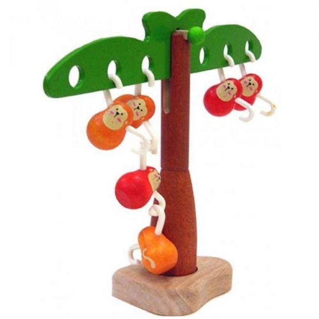 Plantoys Wooden Balancing Monkeys
