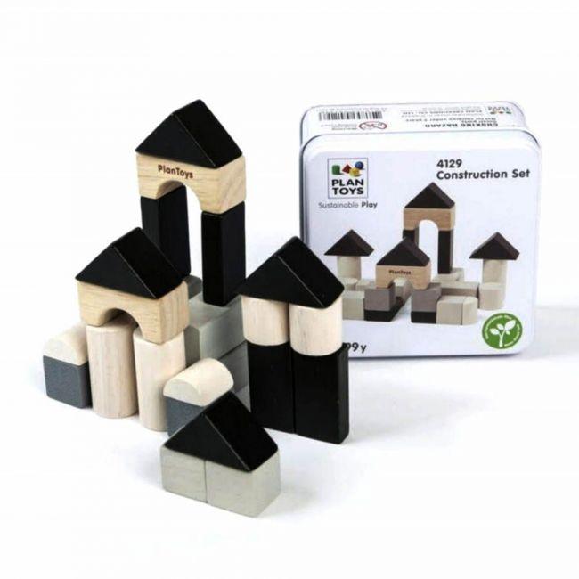 Plantoys Wooden Construction Set