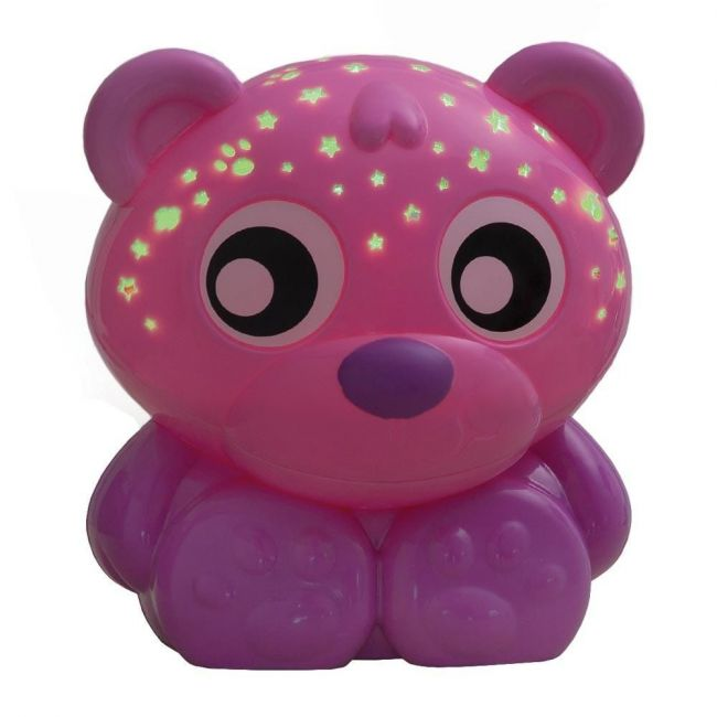 Playgro Pink Goodnight Bear Night Light and Projector Green