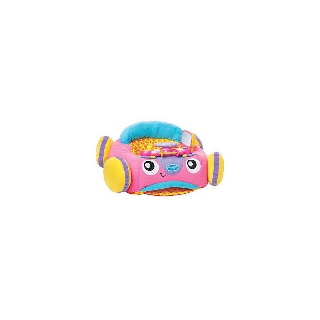 Playgro Music and Lights Pink Comfy Car for Baby Infant Toddler
