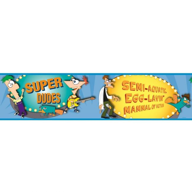 RoomMates Phineas & Ferb Peel & Stick Border