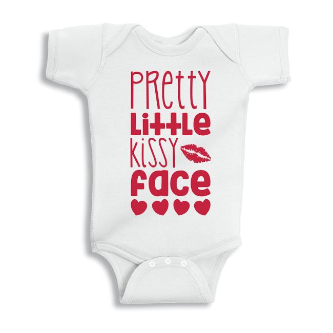 Twinkle Hands Pretty little kissy face Baby Onesie, Bodysuit, Romper