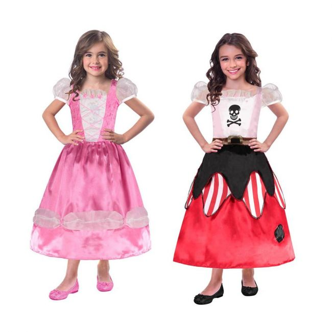 Princess Pirates Reversible Costume Includes Reversible Dress