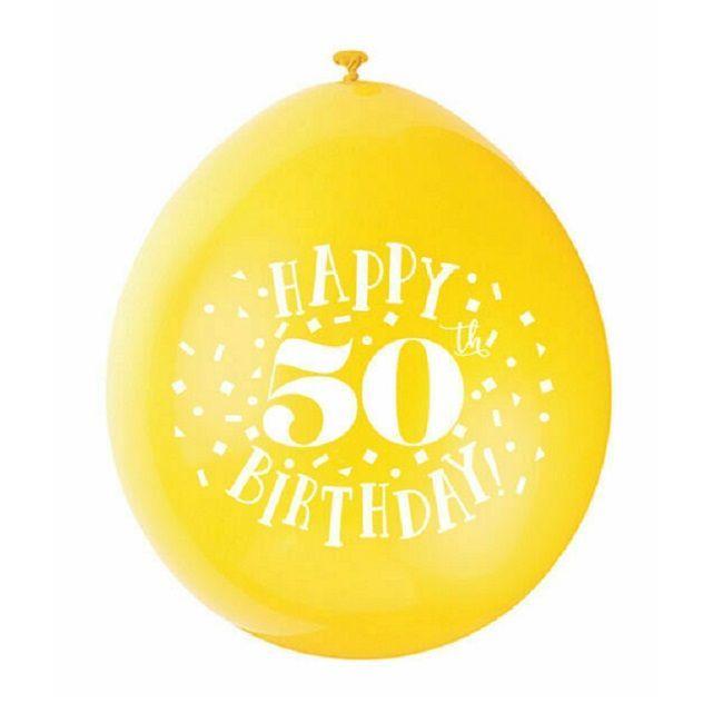 """Unique - Happy 50th Birthday Balloons 9"""""""