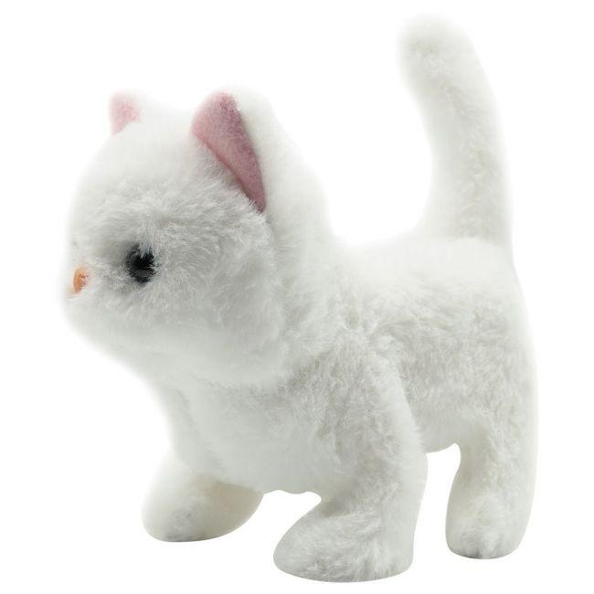 PUGS AT PLAY - Casper Walking Cat Plush Toy - White