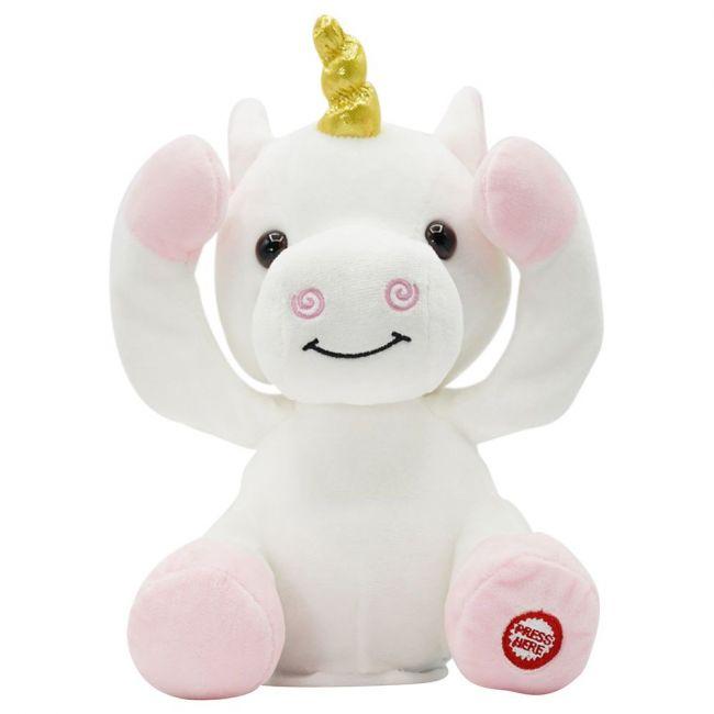 PUGS AT PLAY - Peek A Boo Agnes Unicorn Plush Toy - White