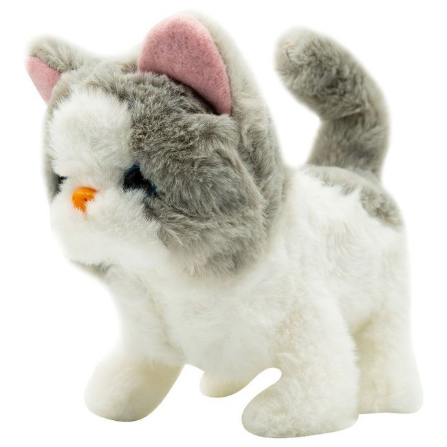 PUGS AT PLAY - Sasha Walking Cat Plush Toy
