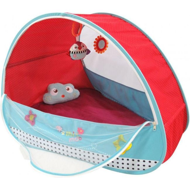 Qtot Red/Blue Deluxe Baby Mosquito Net Sleeping Bed Tent