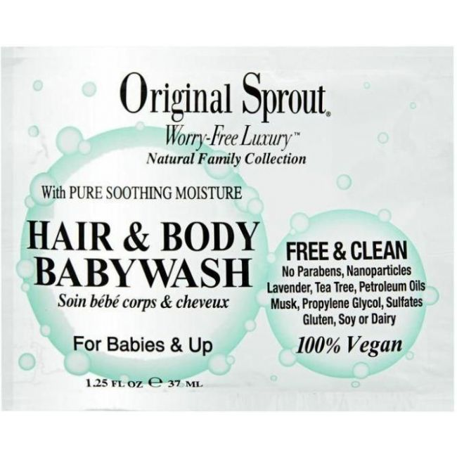 Original Sprout - Sachets - Hair & Body Baby Wash 1-25 Oz