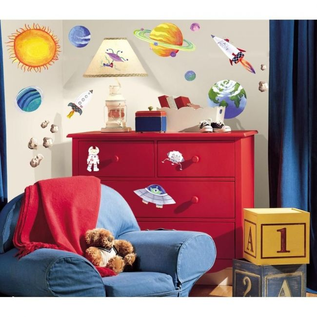 RoomMates Outer Space Peel & Stick Wall Decals
