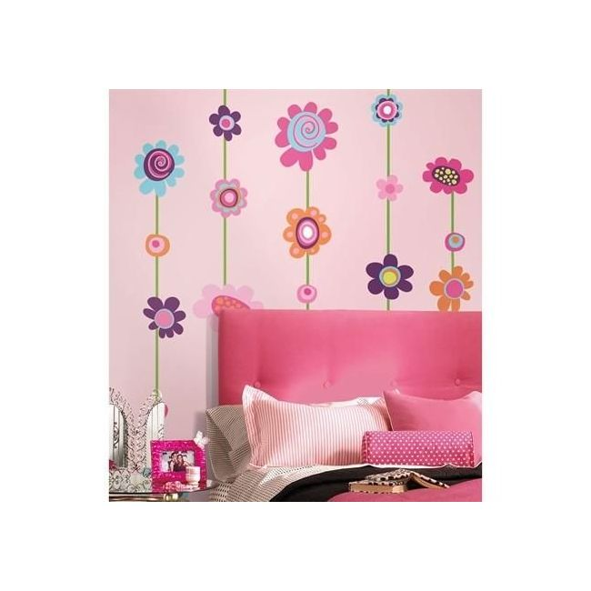 RoomMates Flower Stripe Giant Wall Decals