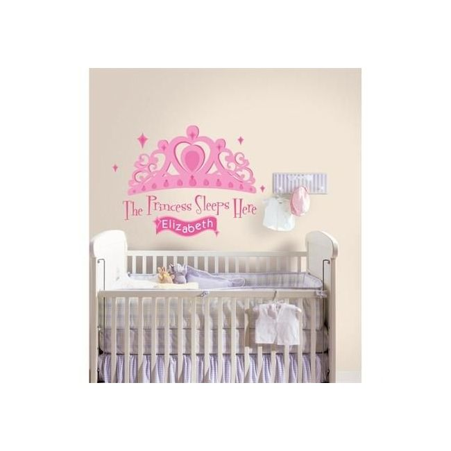 RoomMates The Princess Sleeps Here Giant Wall Decal with Alphabet