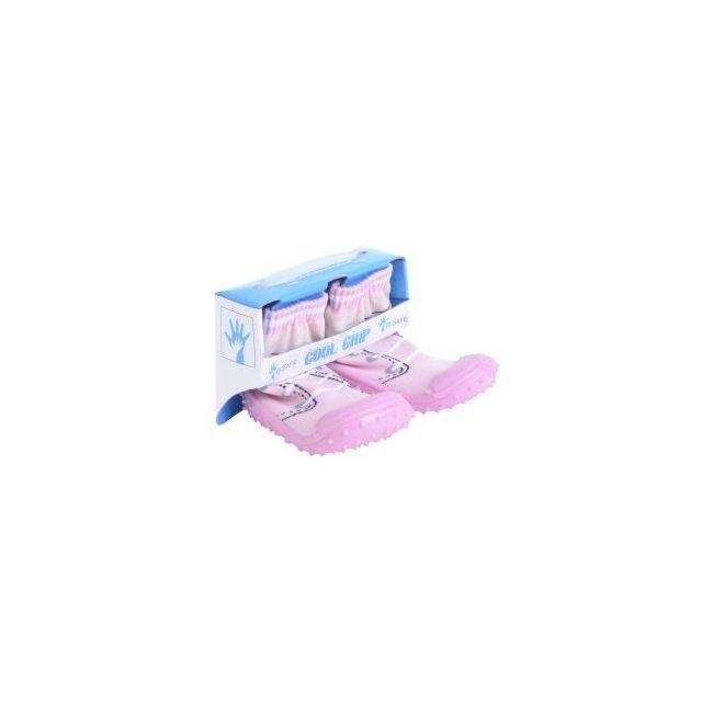 Cool Grip Baby Shoe Socks Pink Shoe Lace Design