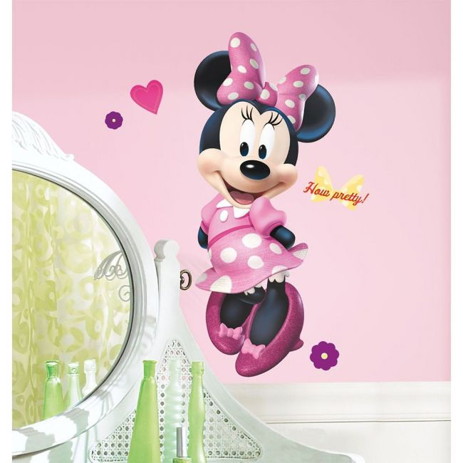Room Mates Decals Mickey & Friends - Minnie Bow-Tique Peel & Stick Giant Wall Decal
