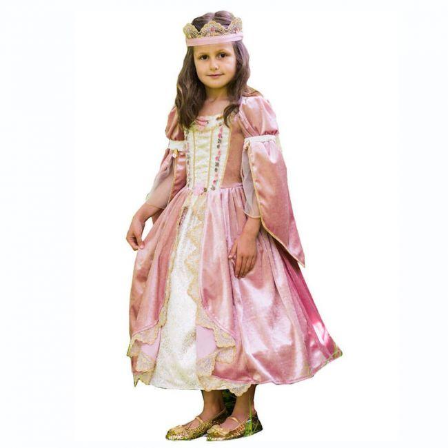 Royal Princess Costume Includes Dress Gold Removable Cape Crown