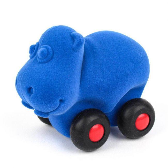 Rubbabu - Aniwheelies Hippo Light Blue - Small
