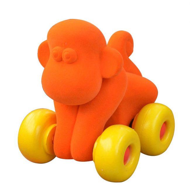 Rubbabu - Aniwheelies Monkey Orange - Small