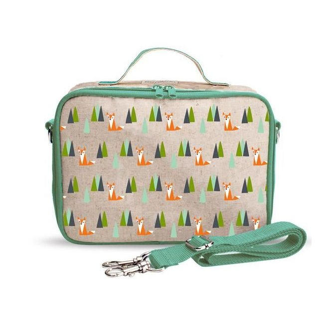 SoYoung Raw Line Olive Fox Lunch Box