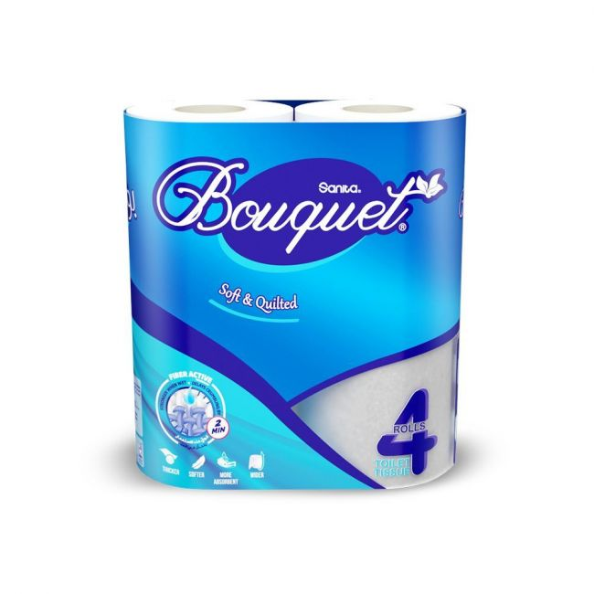 Sanita Bouquet Toilet Tissue Embosssed-Pack Of 4 Rolls ,2 Ply