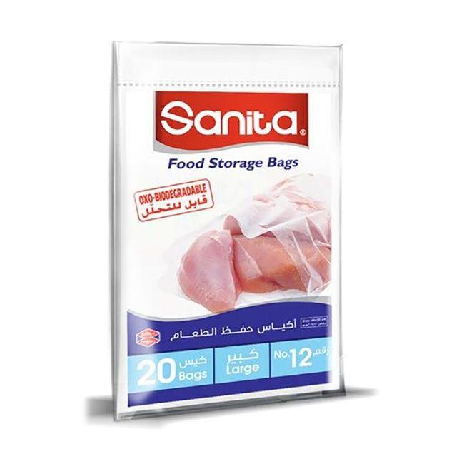 Sanita Food Storage Bags Biodegradable #12 - 20 Bags