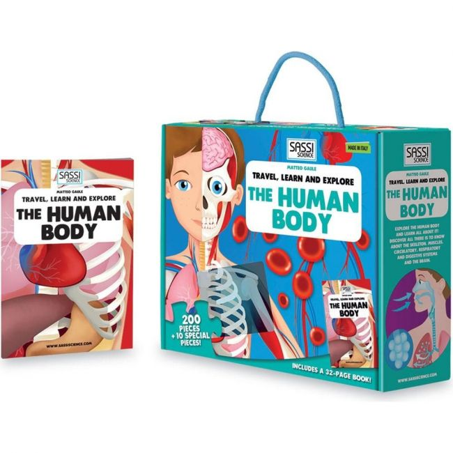 Sassi Junior Travel, Learn and Explore Puzzle - The Human Body