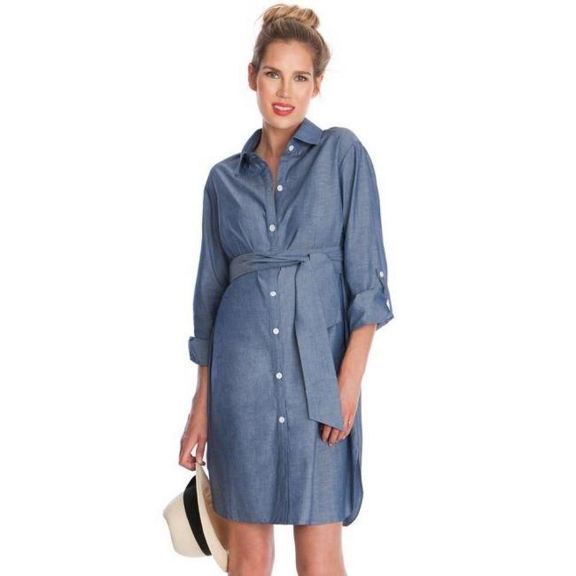 Seraphine Abalina Woven Shirt Dress - Blue