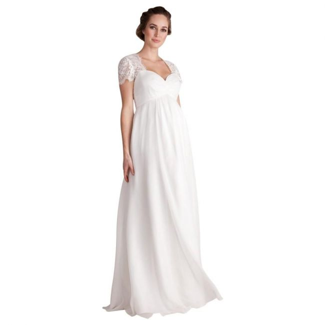 Seraphine Anastasia Lace and Chiffon Gown - Ivory