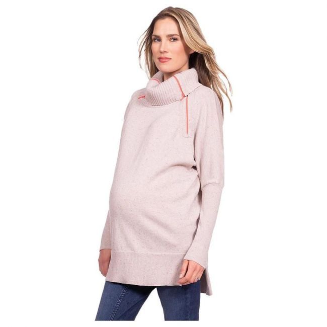 Seraphine Haven Rollneck Knitted Nursing Tunic - Pink
