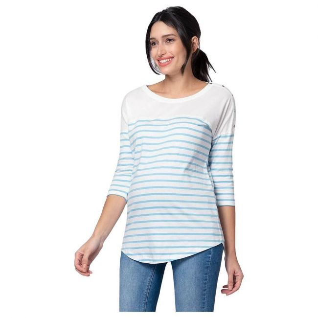 Seraphine Jillian Stripe Breton Str Nursing Top - Blue off white