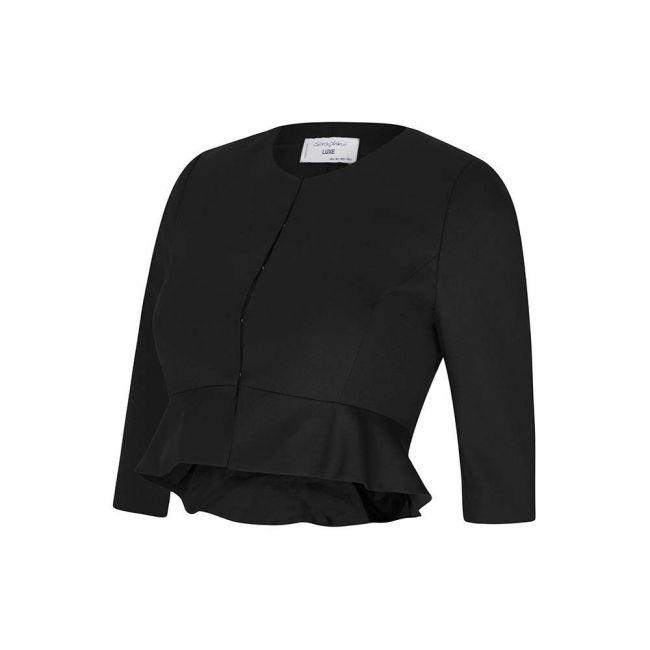 Seraphine Katherina 3/4 Cropped Peplum Jacket - Black