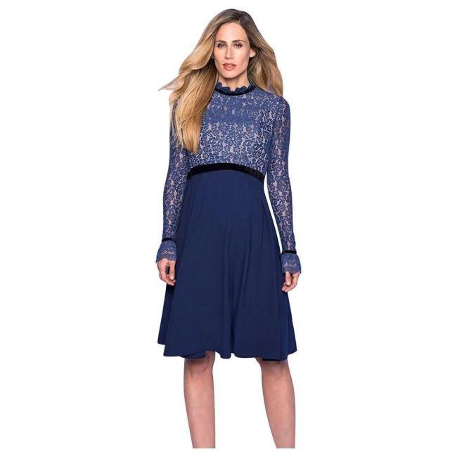 Seraphine Marlene Lace Bodice Dress - Royal Blue