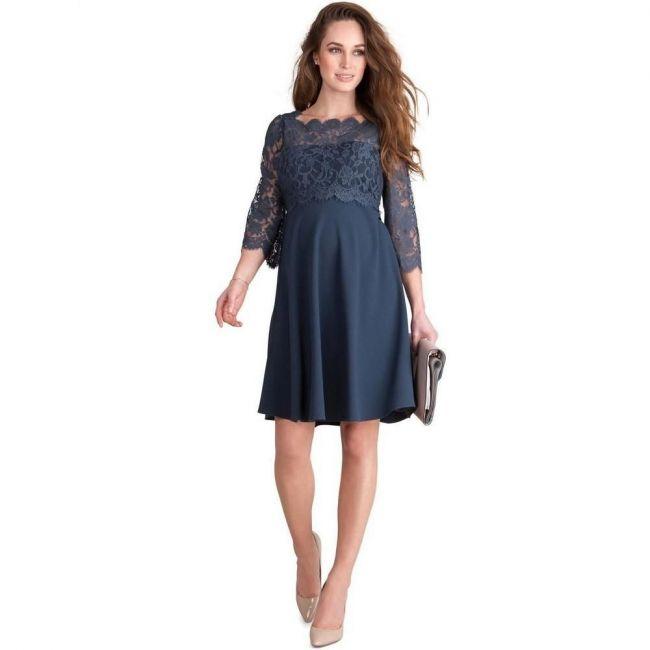 Seraphine Mishka Lace Nursing Dress - Storm Blue