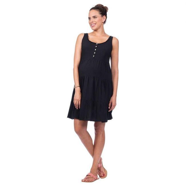 Seraphine Victoria1 Sleeveless Tiered Dress - Black