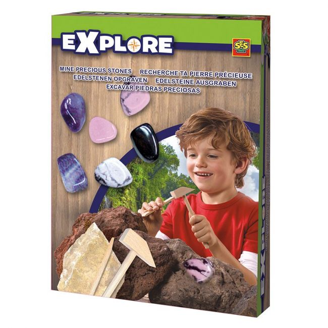 SES Creative - Explore Mine Precious Stones - Pink Purple