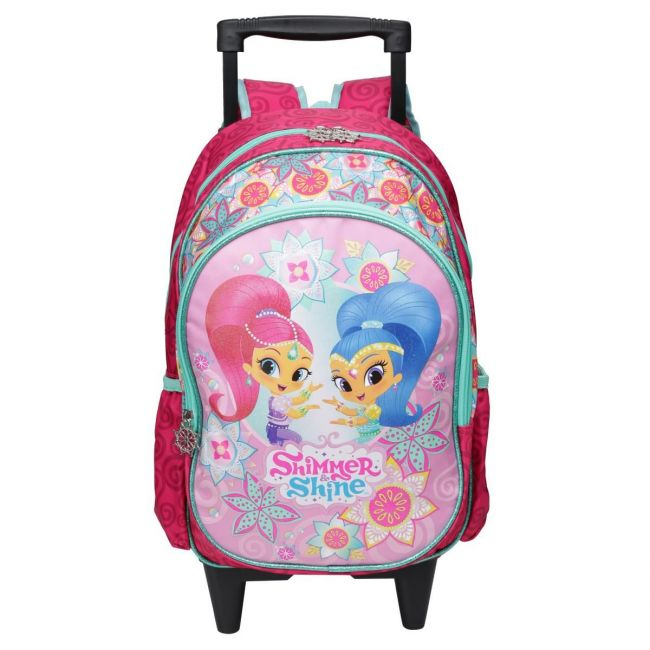 Disney Shimmer and Shine Printed Trolley Backpack