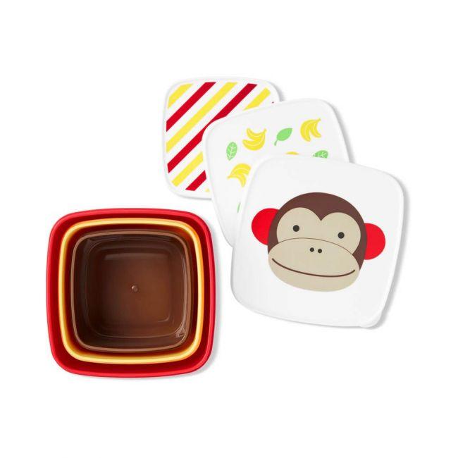 Skiphop- Zoo Snack Box Set Monkey