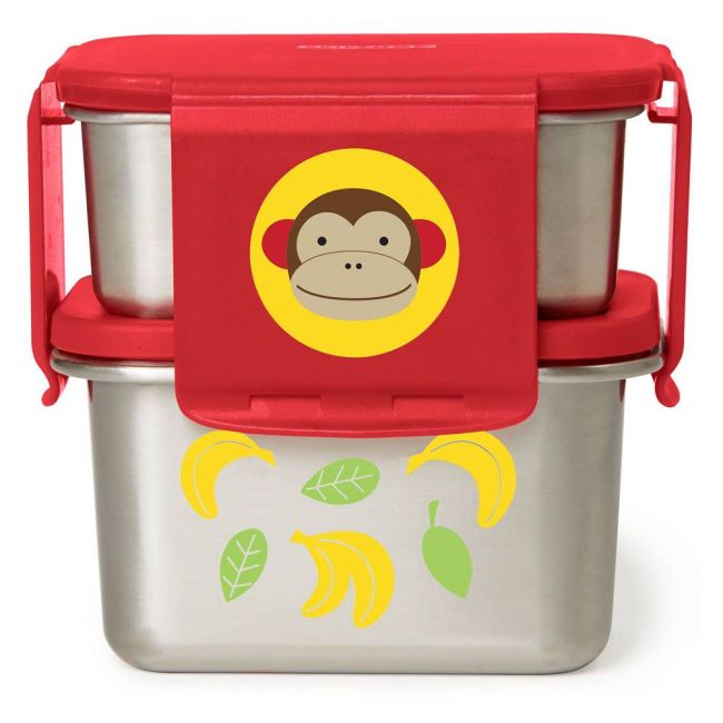 Skiphop- Zoo Stainless Steel Lunch Kit Monkey